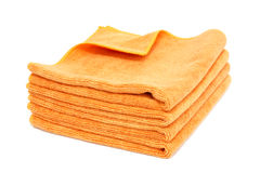 查出的橙色毛巾 免版税库存图片
