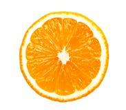 查出的橙色片式 免版税库存照片