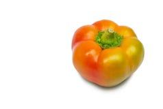 查出的橙色胡椒白色 免版税图库摄影