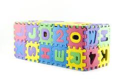 查出的橡胶七巧板配件箱。 库存照片