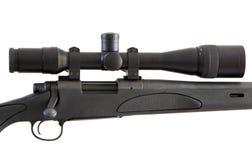 查出的步枪狙击手白色 免版税库存照片