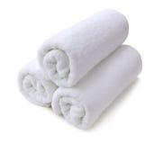 查出的毛巾白色 免版税库存图片