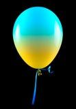 查出的气球飞行 免版税图库摄影