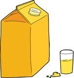 查出的汁液橙色白色 库存例证