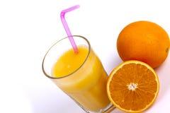 查出的汁液橙色白色 库存图片