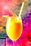 查出的汁液橙色白色 免版税库存图片