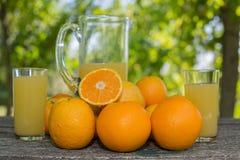 查出的汁液橙色白色 库存照片