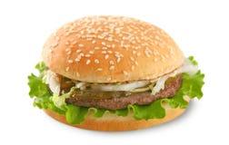 查出的汉堡 库存照片