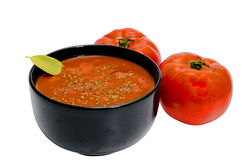 查出的汤蕃茄 免版税库存图片