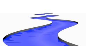 查出的河流 向量例证