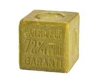 查出的油橄榄肥皂 免版税库存图片