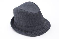 查出的浅顶软呢帽 免版税库存图片