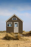 查出的海滩小屋 免版税库存图片