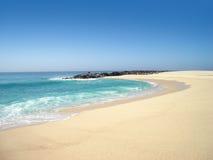 查出的海滩小海湾 库存照片