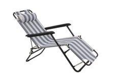 查出的海滩睡椅 免版税库存图片