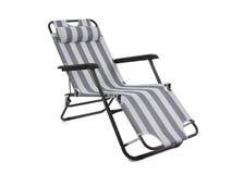查出的海滩睡椅 免版税图库摄影