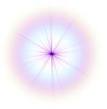 查出的淡紫色星形 库存照片