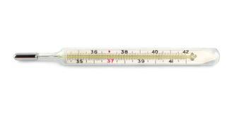 查出的温度计 免版税库存照片