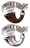 查出的烟斗烟白色 库存例证