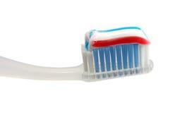查出的牙刷 免版税库存图片