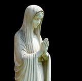 查出的玛丽雕象 免版税图库摄影