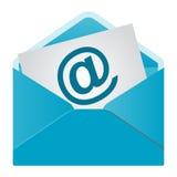 查出的电子邮件图标 免版税库存图片