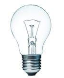 查出的电灯泡白色 免版税库存照片