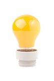 查出的电灯泡蓝色 库存照片