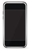 查出的电话屏幕聪明的接触向量 免版税图库摄影
