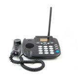 查出的电话白色 现代电话,高详细照片 黑corpuse 免版税库存照片