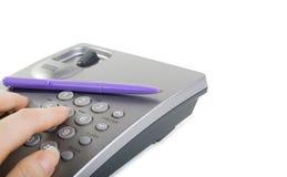 查出的电话 免版税库存图片