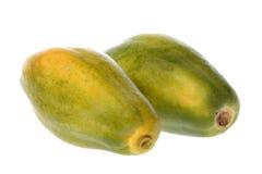 查出的番木瓜 免版税库存图片