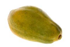 查出的番木瓜 免版税库存照片