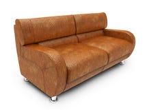 查出的皮革沙发 免版税库存照片