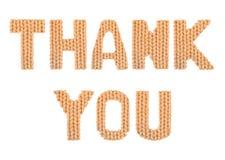 查出的看板卡礼品感谢白色您 颜色桔子 免版税库存图片