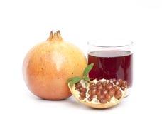 查出的石榴果子和汁 库存照片