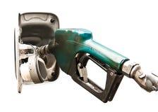 查出的石油换装燃料 免版税库存图片