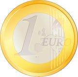 查出的硬币欧洲非常好 库存例证