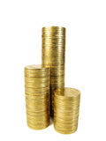 查出的硬币 免版税库存照片
