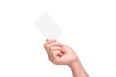 查出的空白名片现有量藏品 免版税库存图片