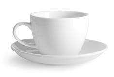 查出的空白杯子 免版税库存照片