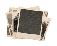 查出的空白葡萄酒照片纸张 免版税图库摄影
