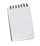 查出的笔记本 免版税库存图片