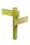 查出的符号空白木 免版税库存照片
