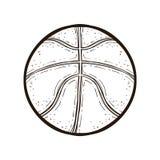 查出的篮球球 书五颜六色的彩图例证 免版税图库摄影