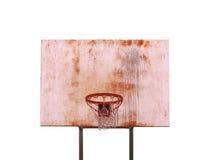查出的篮球篮 免版税库存照片