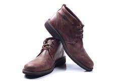 查出的精神穿上鞋子白色 库存照片