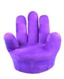 查出的紫色沙发 库存图片