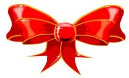 查出的红色丝带 免版税图库摄影