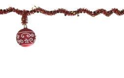 查出的红色圣诞节闪烁球 库存照片